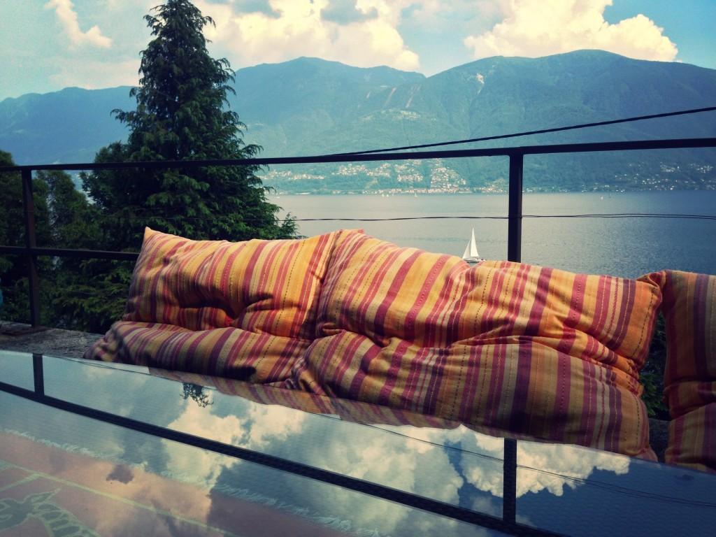 Vista dal terrazzo della villa