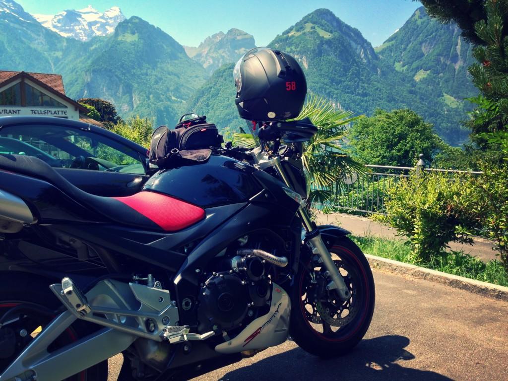 Pausa tra le montagne